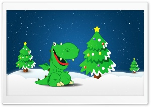 Green Dino HD Wide Wallpaper for Widescreen