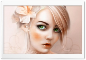 Green Eyes HD Wide Wallpaper for Widescreen