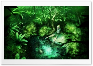 Green Fairy HD Wide Wallpaper for Widescreen
