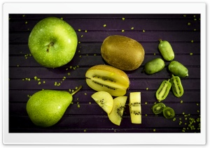 Green Fruits HD Wide Wallpaper for Widescreen