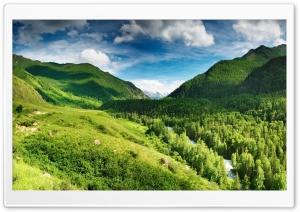 Green Highlands HD Wide Wallpaper for Widescreen