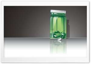 Green Jar Vector HD Wide Wallpaper for Widescreen