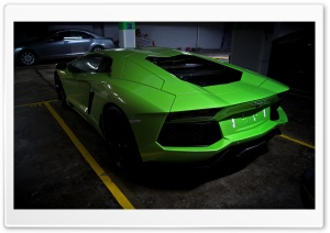 Green Lamborghini HD Wide Wallpaper for Widescreen