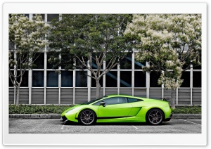Green Lamborghini Gallardo Superleggera HD Wide Wallpaper for Widescreen