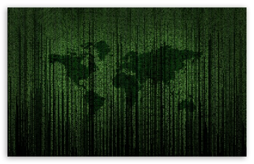 Green Matrix Code World Map ❤ 4K HD Desktop Wallpaper for 4K Ultra ...