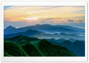 Green Mountains In The Morning HD Wide Wallpaper for Widescreen