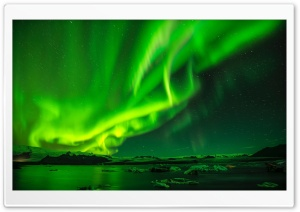 Green Northern Lights, Night Sky Ultra HD Wallpaper for 4K UHD Widescreen desktop, tablet & smartphone