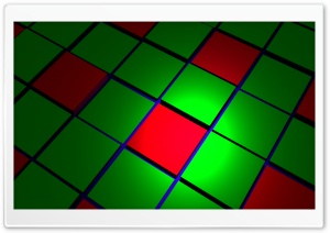 Green  Red Cubes HD Wide Wallpaper for Widescreen