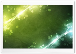 Green Sparkles HD Wide Wallpaper for Widescreen