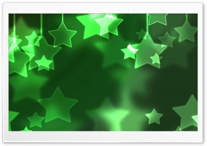 Green Stars HD Wide Wallpaper for Widescreen
