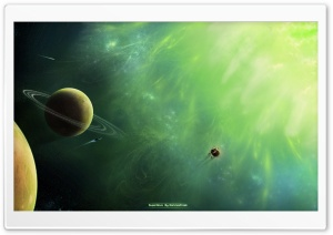 Green Supernova HD Wide Wallpaper for Widescreen