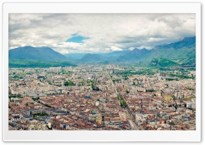 Grenoble Panorama HD Wide Wallpaper for Widescreen