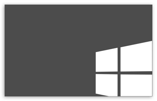 Grey & White Windows Flag 4K HD Desktop Wallpaper For 4K