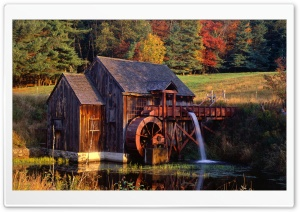 Gristmill, Guilford, Vermont HD Wide Wallpaper for Widescreen