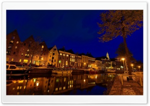 Groningen At Night HD Wide Wallpaper for 4K UHD Widescreen desktop & smartphone