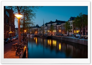 Groningen Canal HD Wide Wallpaper for Widescreen