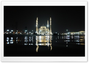 Grozny Mosque At Night HD Wide Wallpaper for Widescreen
