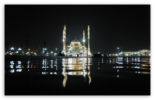 Grozny Mosque At Night HD wallpaper for Wide 16:10 5:3 Widescreen WHXGA WQXGA WUXGA WXGA WGA ; HD 16:9 High Definition WQHD QWXGA 1080p 900p 720p QHD nHD ; UHD 16:9 WQHD QWXGA 1080p 900p 720p QHD nHD ; Standard 4:3 5:4 3:2 Fullscreen UXGA XGA SVGA QSXGA SXGA DVGA HVGA HQVGA devices ( Apple PowerBook G4 iPhone 4 3G 3GS iPod Touch ) ; Tablet 1:1 ; iPad 1/2/Mini ; Mobile 4:3 5:3 3:2 16:9 5:4 - UXGA XGA SVGA WGA DVGA HVGA HQVGA devices ( Apple PowerBook G4 iPhone 4 3G 3GS iPod Touch ) WQHD QWXGA 1080p 900p 720p QHD nHD QSXGA SXGA ; Dual 4:3 5:4 UXGA XGA SVGA QSXGA SXGA ;