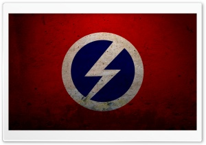 Grunge British Union Of Fascists Flag HD Wide Wallpaper for Widescreen