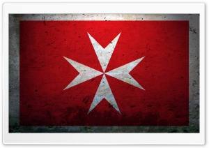 Grunge Civil Ensign Of Malta HD Wide Wallpaper for 4K UHD Widescreen desktop & smartphone