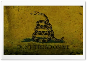 Grunge Don't Tread On Me - The Gadsden Flag HD Wide Wallpaper for Widescreen