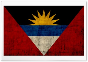 Grunge Flag Of Antigua And Barbuda HD Wide Wallpaper for Widescreen