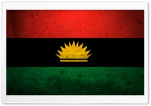 Grunge Flag Of Biafra HD Wide Wallpaper for Widescreen