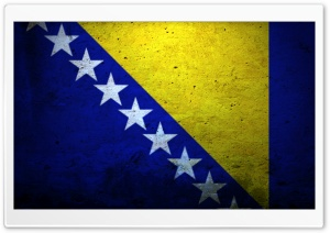 Grunge Flag Of Bosnia And Herzegovina HD Wide Wallpaper for Widescreen