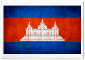 Grunge Flag Of Cambodia HD Wide Wallpaper for Widescreen