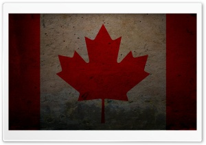 Grunge Flag Of Canada HD Wide Wallpaper for Widescreen