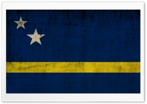 Grunge Flag Of Curacao HD Wide Wallpaper for Widescreen