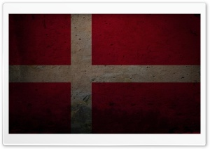 Grunge Flag Of Denmark HD Wide Wallpaper for 4K UHD Widescreen desktop & smartphone