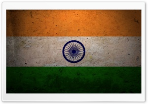 Grunge Flag Of India HD Wide Wallpaper for Widescreen