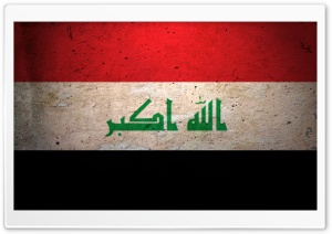 Grunge Flag Of Iraq HD Wide Wallpaper for 4K UHD Widescreen desktop & smartphone