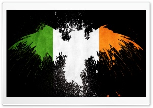 Grunge Flag Of Ireland HD Wide Wallpaper for Widescreen