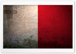 Grunge Flag Of Malta HD Wide Wallpaper for Widescreen