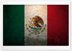 Grunge Flag Of Mexico HD Wide Wallpaper for Widescreen
