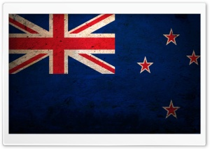 Grunge Flag Of New Zealand HD Wide Wallpaper for Widescreen