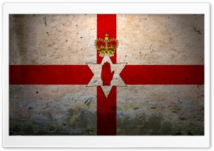 Grunge Flag Of Northern Ireland HD Wide Wallpaper for Widescreen