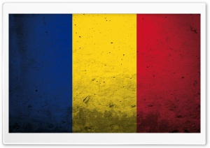 Grunge Flag Of Romania HD Wide Wallpaper for Widescreen