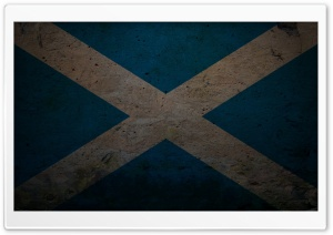 Grunge Flag Of Scotland HD Wide Wallpaper for Widescreen