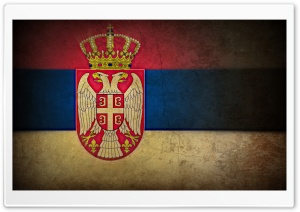 Grunge flag of Serbia HD Wide Wallpaper for Widescreen