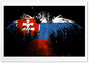Grunge Flag Of Slovakia HD Wide Wallpaper for Widescreen