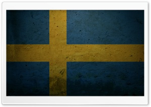 Grunge Flag Of Sweden HD Wide Wallpaper for Widescreen