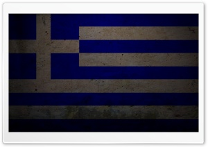 Grunge Flag Of The Greece HD Wide Wallpaper for Widescreen