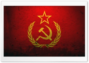 Grunge Flag Of The Soviet Union HD Wide Wallpaper for Widescreen
