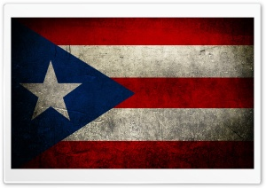 Grunge Flags Of Puerto Rico HD Wide Wallpaper for Widescreen