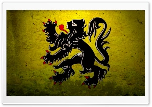 Grunge Government Ensign Of Belgium HD Wide Wallpaper for Widescreen