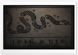 Grunge Join, Or Die By Benjamin Franklin HD Wide Wallpaper for 4K UHD Widescreen desktop & smartphone
