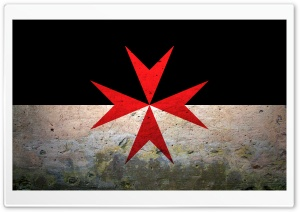 Grunge Maltese Cross HD Wide Wallpaper for Widescreen